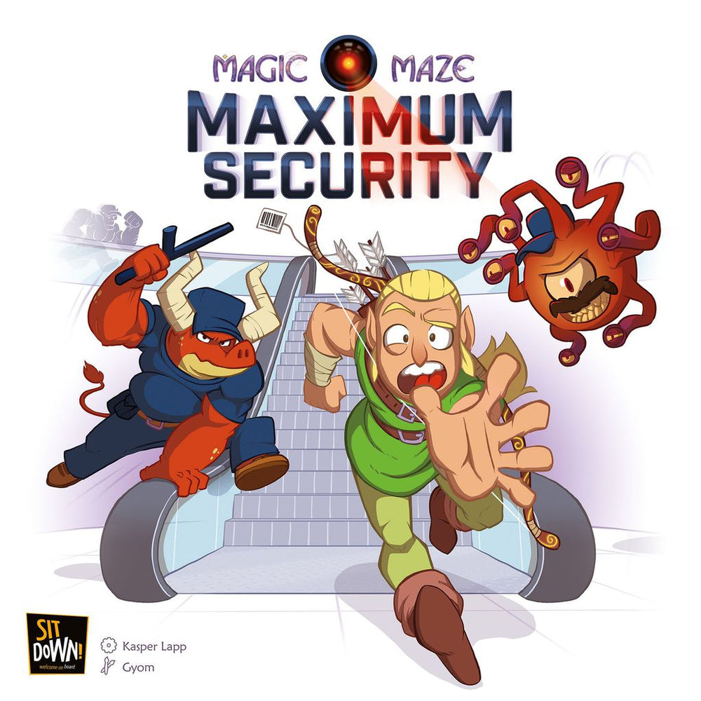 Magic Maze Maximum Security (expansion) - Board Games Master Australia | KIds | Familiy | Adults | Party | Online | Strategy Games | New Release