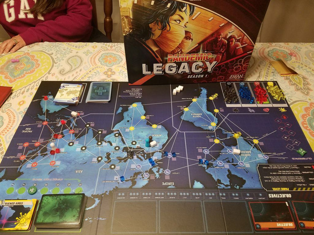 Pandemic Legacy Season 1 (Red Edition) - Board Games Master Australia | KIds | Familiy | Adults | Party | Online | Strategy Games | New Release