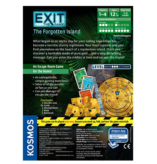 Exit the Game the Forgotten Island - Board Games Master Australia | KIds | Familiy | Adults | Party | Online | Strategy Games | New Release