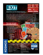 Exit the Game Dead Man on The Orient Express - Board Games Master Australia | KIds | Familiy | Adults | Party | Online | Strategy Games | New Release