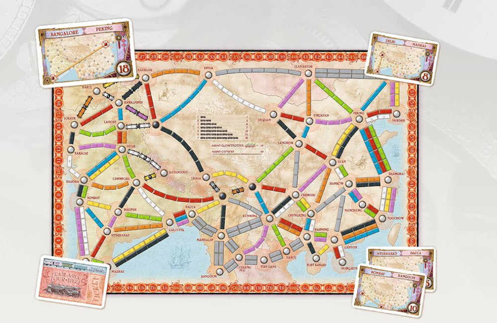 Ticket to Ride Map Collection Volume 1 – Team Asia & Legendary Asia - Board Games Master Australia | KIds | Familiy | Adults | Party | Online | Strategy Games | New Release