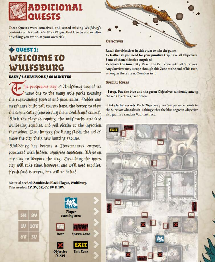 Zombicide Wulfsburg - Board Games Master Australia | KIds | Familiy | Adults | Party | Online | Strategy Games | New Release
