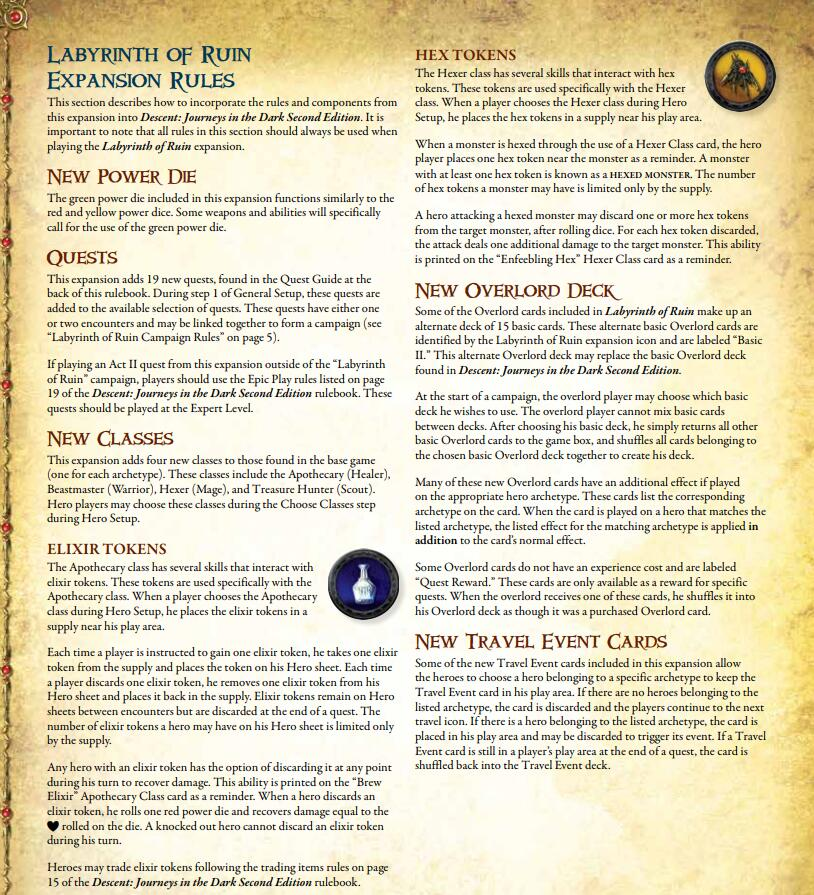 Descent 2nd Edition the Labyrinth of Ruin