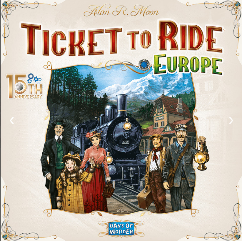 【Pre-Order】Ticket to Ride Europe – 15th Anniversary