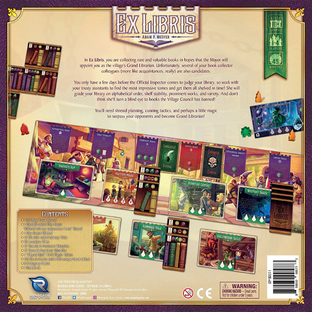 Ex Libris - Board Games Master Australia | KIds | Familiy | Adults | Party | Online | Strategy Games | New Release
