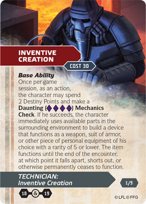 Star Wars Edge of the Empire Droid Tech Specialization Deck