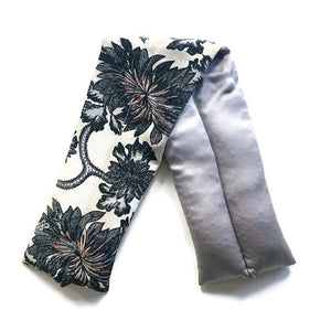 VINTAGE SILK NECK ROLL - DAMASK