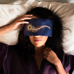 LAVENDER EYE PILLOWS - PEACOCK FEATHER