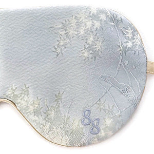 VINTAGE SILK EYE MASK - PALE BLUE MAPLE