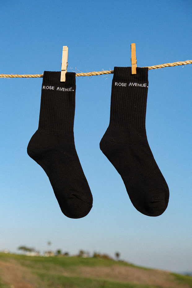Rose Avenue Logo Socks