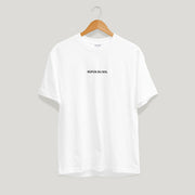 White Embroidered Logo Tee