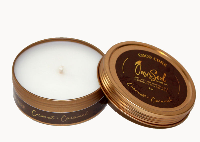 COCO CURE - Gold Tin Candle {coconut + caramel}