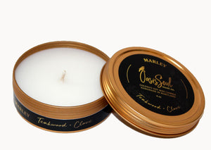 MARLEY - Gold Tin Candle {teakwood + clove}