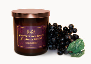 WHATEVER LOLA WANTS - Amber Classics Candle {blackberry merlot}