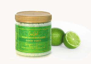 GOOD VIBES - Sugar Cream Body Scrub {ginger + lime}