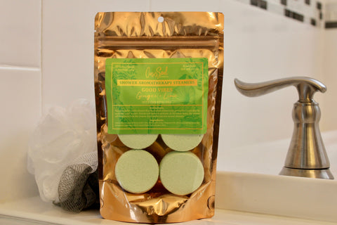 GOOD VIBES - Shower Aromatherapy Steamers {ginger + lime}