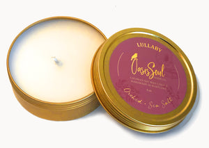 LULLABY - Gold Tin Candle {orchid + sea salt}