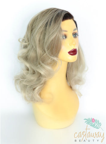 short ash brown wig