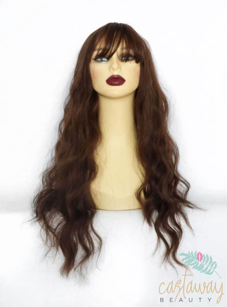 brown wig with fringe