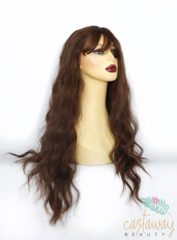 brunette wig with fringe