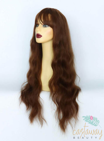 brown wig with fringe uk