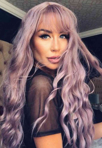 Dusty Purple Synthetic Wig