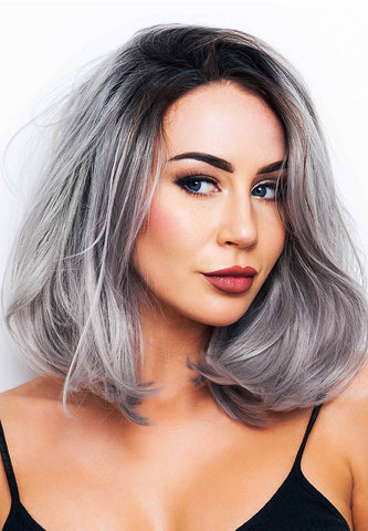 Grey Bounce Lace Front Wig