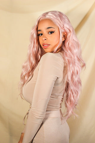 Champagne Curls Synthetic Lace Front Wig