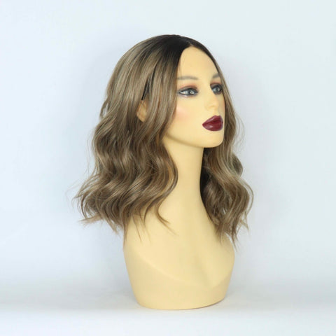 Brunette Waves Crop Lace Front Wig