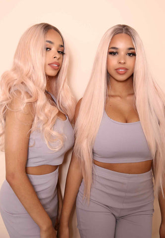 Rose Gold Synthetic Lace Front Wig
