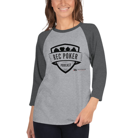 RecPoker Podcast Grey Raglan
