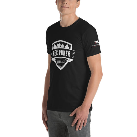 RecPoker Podcast Black T-shirt