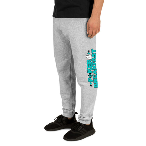 Poker For Breakfast Turquoise Joggers
