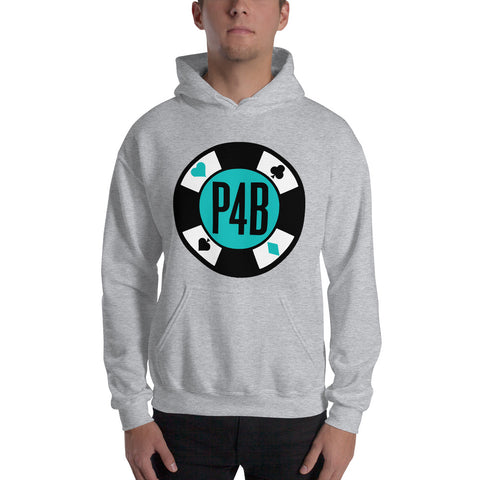 Poker For Breakfast Turquoise Hoodie