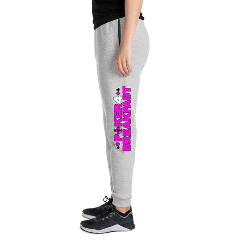 Poker for Breakfast Pink Joggers