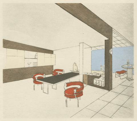 Charlotte Perriand 1927 dining room scheme
