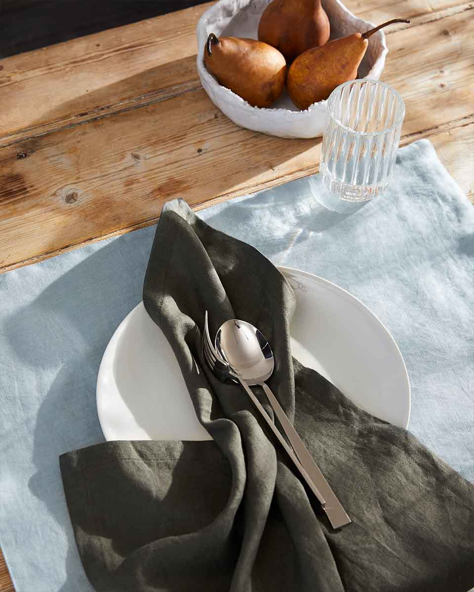 Khaki Linen Napkin - set of 4