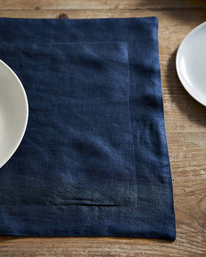 Navy Linen Placemat - set of 4