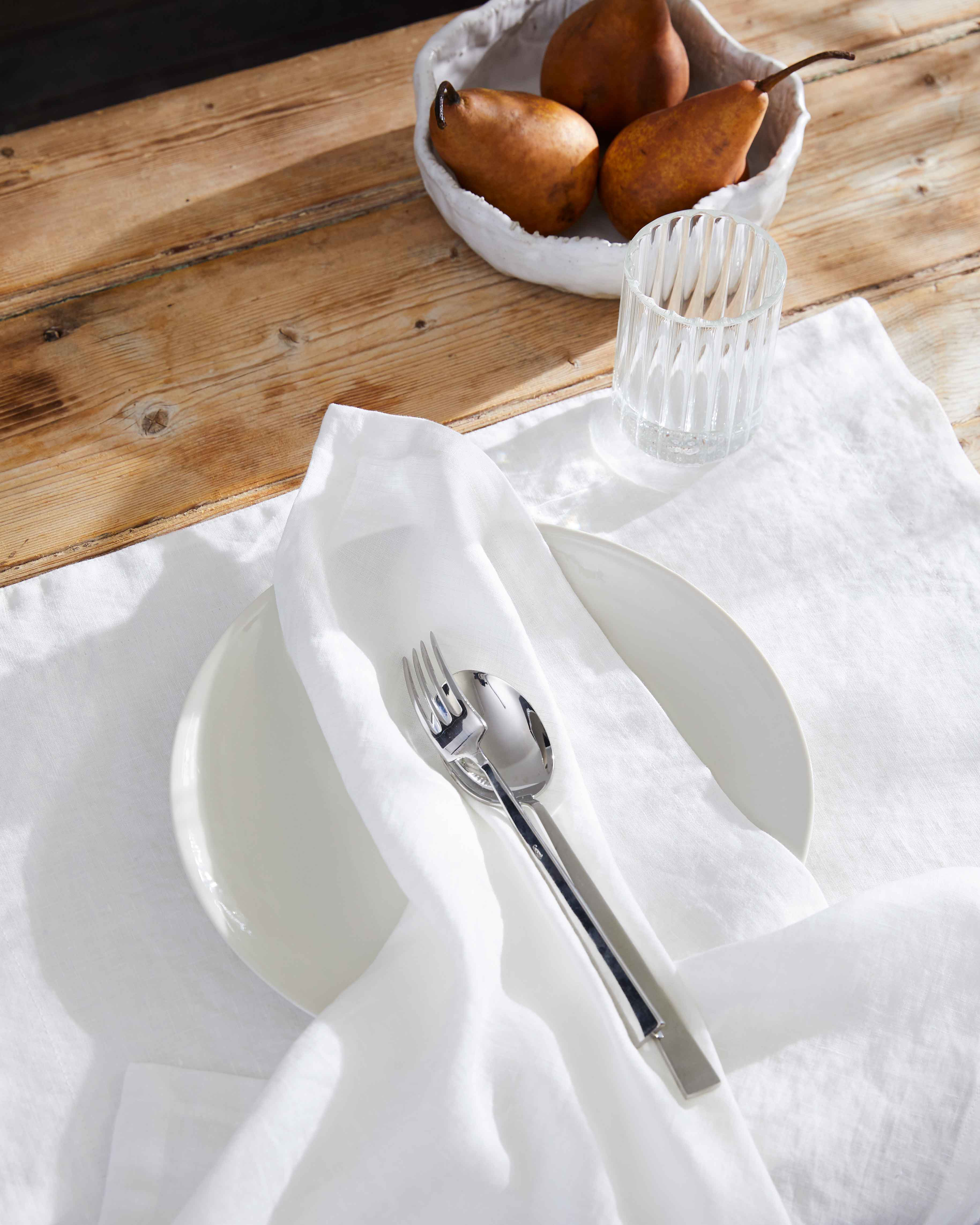 White Linen Napkin – set of 4