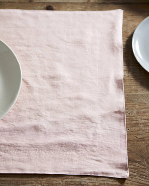Salmon Linen Placemat - set of 4