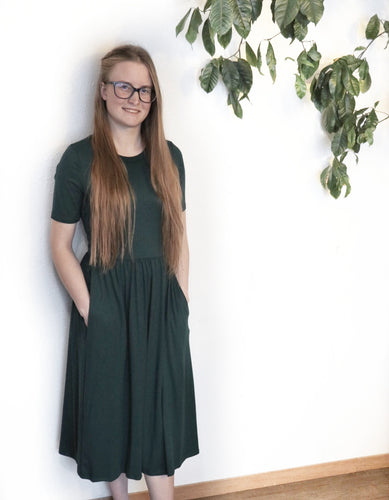 Hunter Green Arianna Dress