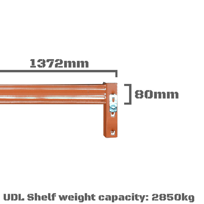 Pallet Racking Beam - 1372 x 80mm
