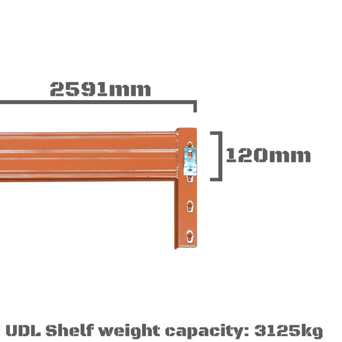 Pallet Racking Beam - 2591 x 120mm