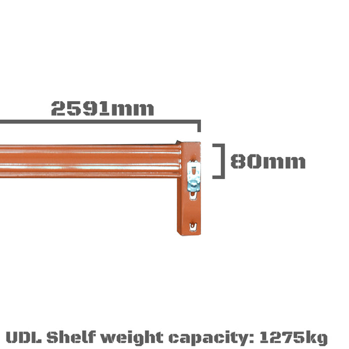 Pallet Racking Beam - 2591 x 80mm