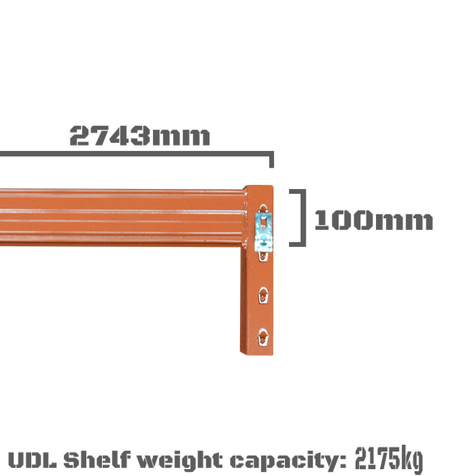 Pallet Racking Beam - 2743 x 100mm