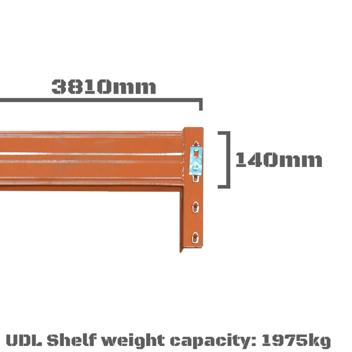 Pallet Racking Beam - 3810 x 140mm