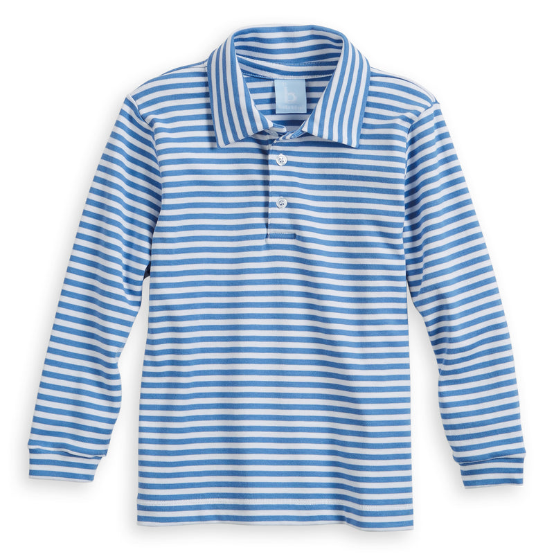 Fall Striped Pima Polo Tee (4487985823824)