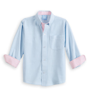 Contrast Trim Buttondown Shirt (4488704884816)