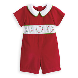Embroidered Wreath Romper (4478759829584)