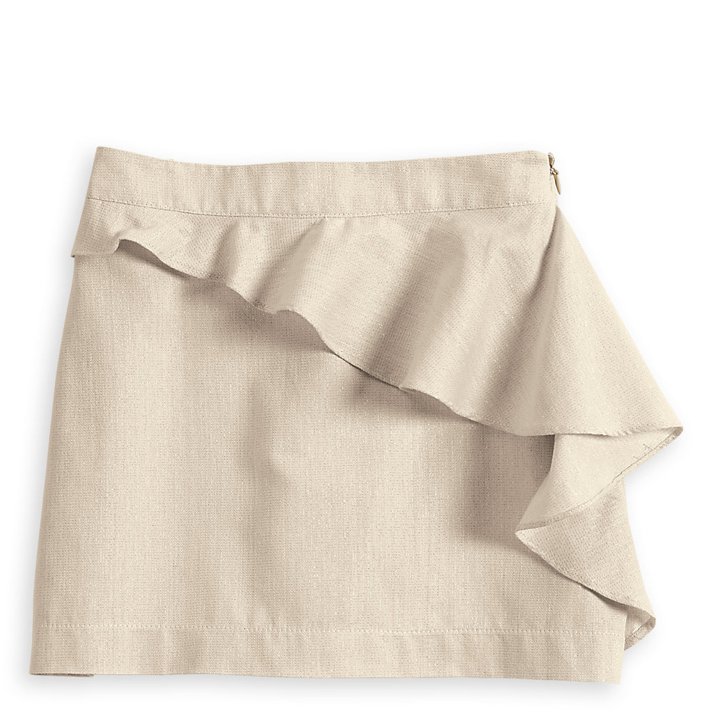 Gold Side Ruffle Skirt (4478774673488)